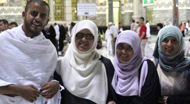 Ibrihim Halawa with sisters Fatima, Omaima and Somaia