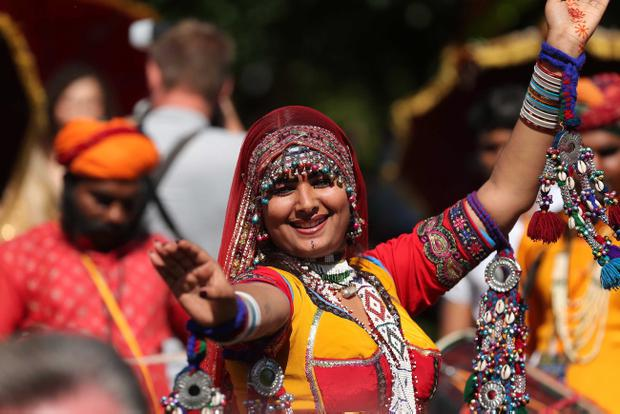 Thousands of people celebrating this year's Mela in Botanic Gardens. Press Eye - Belfast