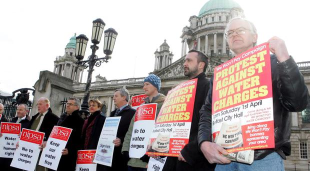 Water charges have been deferred for domestic customers