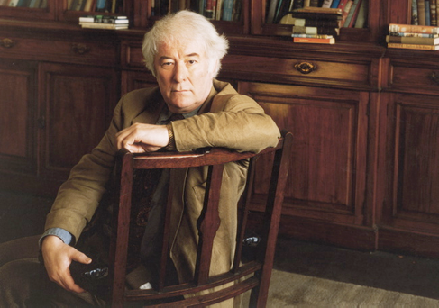 Seamus Heaney, pictured in 1995