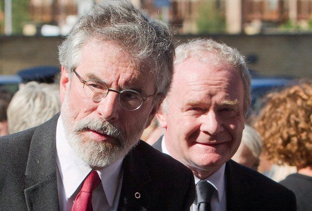 Come clean: Gerry Adams , Martin McGuinness and Theresa Villiers are crucial to the success of Richard Haass's mission