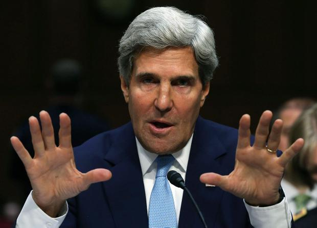 John Kerry testifies before the Senate Foreign Relations Committee