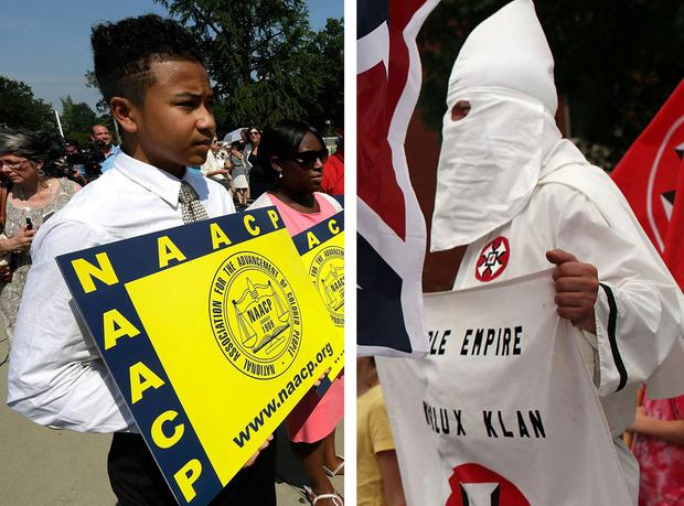 The NAACP and Ku Klux Klan have been in fundamental opposition for more than a century