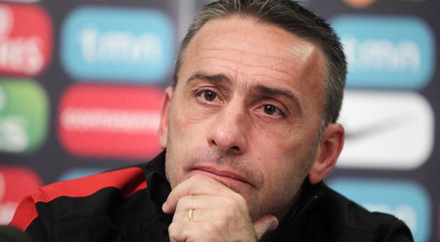 Portugal Manager Paulo Bento holds a press conference after training at Windsor Park, ahead of their World Cup qualifier against Northern Ireland on Friday night. Photo-Jonathan Porter/Presseye.