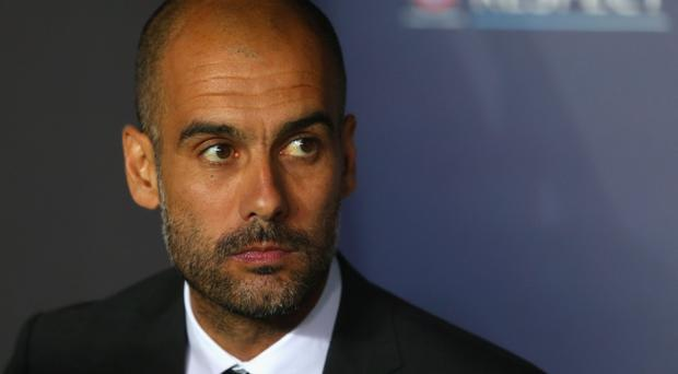 Pep Guardiola, head coach of Bayern Munich, pictured before the UEFA Super Cup between Bayern and Chelsea FC in Prague, Czech Republic. (Photo by Alexander Hassenstein/Bongarts/Getty Images)