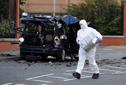 A controlled explosion was carried out on a car on the Hillview Road, North Belfast