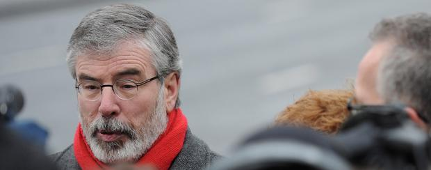 Past tense: Sinn Fein president Gerry Adams has always denied he was a leader of the IRA despite evidence to the contrary