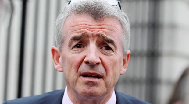 Ryanair boss Michael O'Leary outside the High Court in Belfast