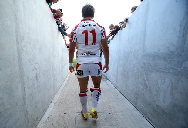 Ulster player walks out onto the pitch
