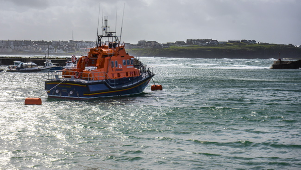 The search for a man who was swept out to sea at Ramore Head was once again called off on Sunday due to increasingly stormy conditions Pic: Kirth Ferris/Pacemaker Press