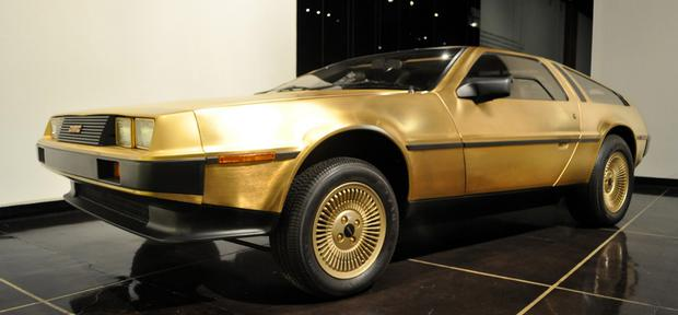 Just three gold DeLorean models were built
