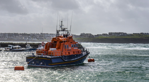 A massive rescue operation was mounted after Belfast Coastguard received a call from a man who reported his boat was rapidly taking on water off the Co Down coast today