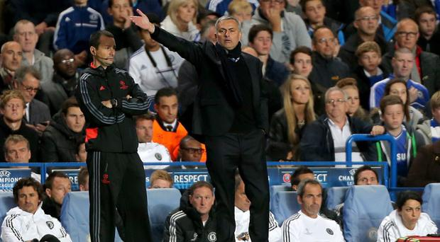 Chelsea manager Jose Mourinho on the touchline during the UEFA Champions League, Group E match at Stamford Bridge, London. PRESS ASSOCIATION Photo. Picture date: Wednesday September 18, 2013. See PA story SOCCER Chelsea. Photo credit should read: Nick Potts/PA Wire