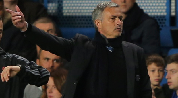 LONDON, ENGLAND - SEPTEMBER 18: Manager Jose Mourinho of Chelsea gestures during the UEFA Champions League Group E Match between Chelsea and FC Basel at Stamford Bridge on September 18, 2013 in London, England. (Photo by Ian Walton/Getty Images)
