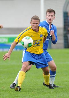Action from Loughgall v Bangor, Championship One, September 21