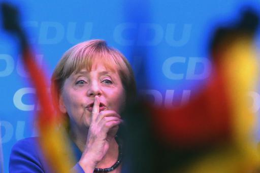Chancellor Angela Merkel's conservatives celebrate after triumph in Germany's election last week