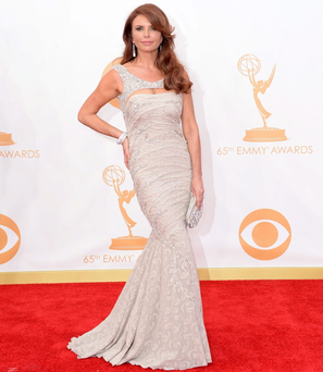 Actress Roma Downey arrives at the 65th Annual Primetime Emmy Awards held at Nokia Theatre L.A. Live on September 22, 2013 in Los Angeles, California. (Photo by Jason Merritt/Getty Images)