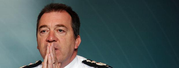 PSNI Chief Constable Matt Baggott - 'the right man at the right time'... but he needs political back-up