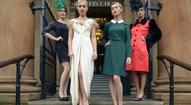 Pictured at the Arthur cox Fashion Show: Finola Guinnane, Tiffany Brien, Jennifer Locke and Sarah Moore showcasing a selection of designs from leading local designers including Jen Kelly, Polly McGettigan, Logue London, Gráinne Maher and Una Rodden.