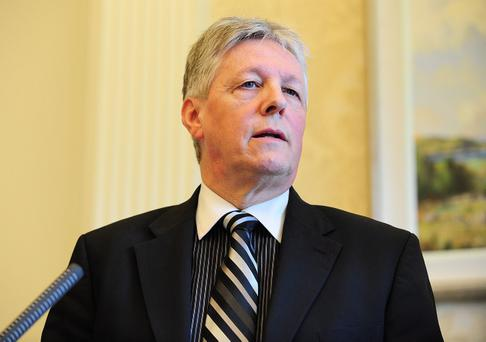 First Minister Peter Robinson effectively stopped the Maze project in August