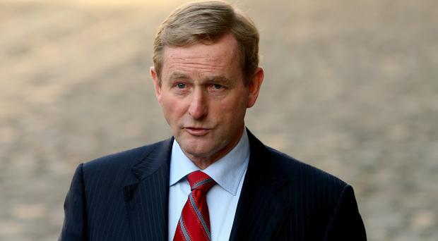 Taoiseach Enda Kenny at Dublin Castle as the Irish Government suffered an embarrassing defeat in a referendum to abolish the country's upper house of parliament, with 51.7% of the public voting against it.