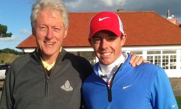 Bill Clinton and Rory McIlroy