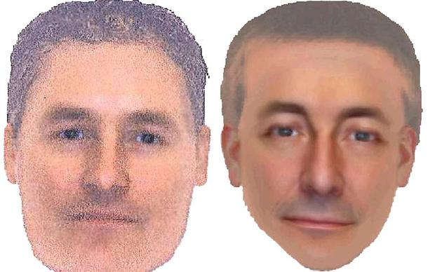 The two e-fit images issued by the Metropolitan Police, believed by detectives to be of the same man seen in the Portuguese town of Praia da Luz at the time of Madeleine McCann's disappearance