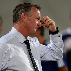 Northern Ireland manager Michael O'Neill during Tuesday nights 2014 World Cup Qualifier at the Ramat Gan stadium in Tel Aviv.