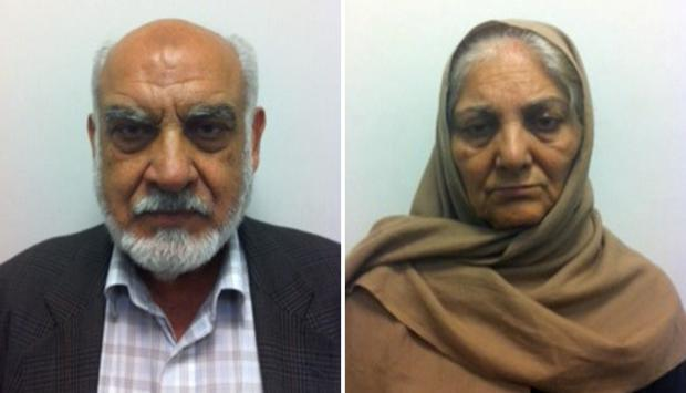 Ilyas Ashar and his wife Tallat Ashar. Police described Ilyas Ashar as pure evil