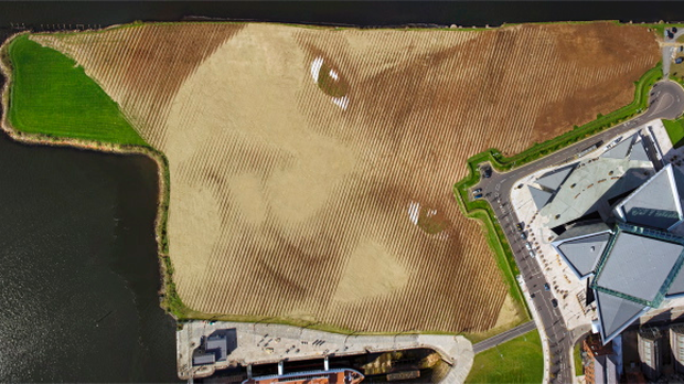 Wish: The stunning, awe inspiring piece of art and construction is the largest land-art portrait in the UK and Ireland