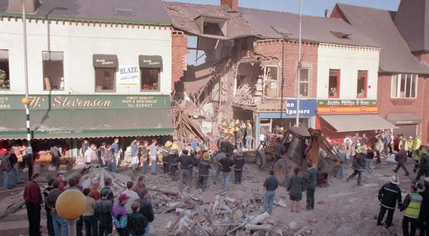 The IRA bomb in Frizell's Fish shop on the Shankill Road which killed killed nine innocent people and bomber Thomas Begley