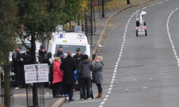 Army Bomb experts at the scene on the Crumlin Road in North Belfast Colm Lenaghan/Pacemaker