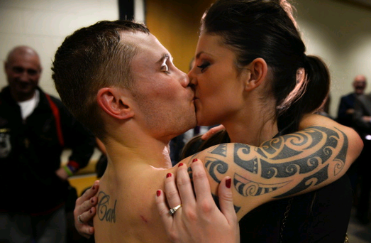 Carl 'The Jackal' Frampton and fiancee Christine