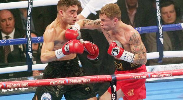Carl Frampton world title eliminator against Frenchman Jeremy Parodi at the Odyssey Arena in Belfast