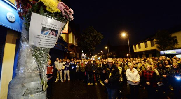 A prayer service and vigil to mark the 20th anniversary has been held for the nine people killed when the IRA planted a bomb in Frizzell's fish shop on Belfast's Shankill Road in October 1993. Photo Charles McQuillan/Pacemaker Press