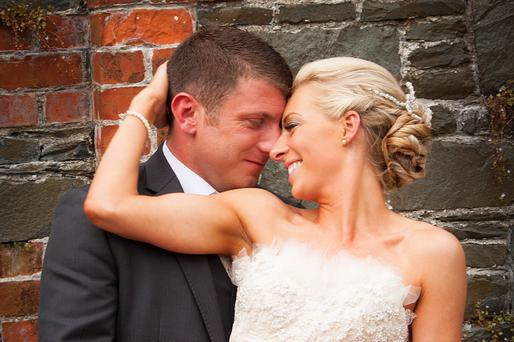 Gavin and Claire Nutt on their wedding day at the Montalto Estate in Co Down