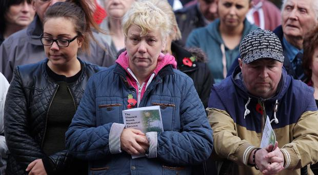 Hundreds attend Shankill bombing church service on the 20th anniversary of the IRA attack which killed 10 people including one of the bombers.