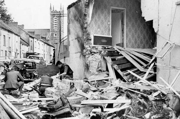 The aftermath of the UVF Step Inn pub bombing, Keady, in August 1976