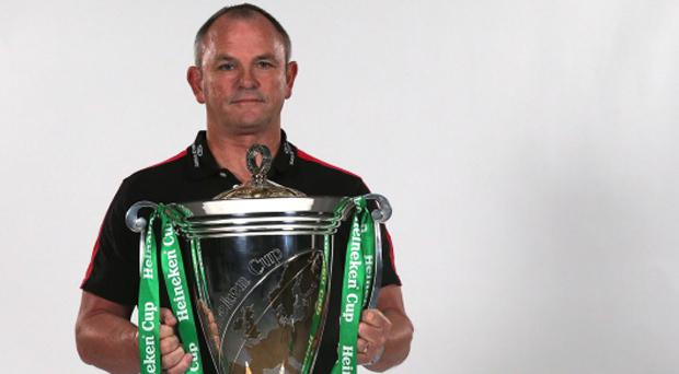 UIster coach Mark Anscombe pictured with the Heineken Cup at the launch of this season's competition