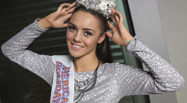 Shaniece Nesbitt celebrates winning the Miss Ulster 2013 title. Pic Jim Corr