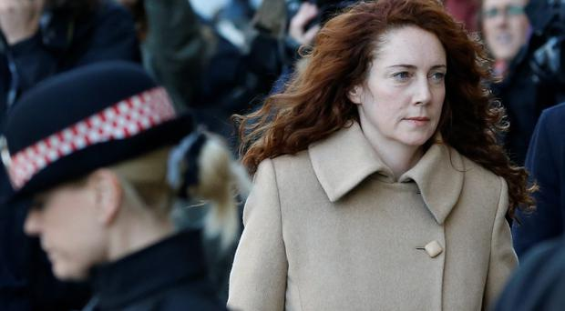 Rebekah Brooks arrives at The Old Bailey in London, Monday, Oct. 28, 2013.