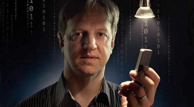 Bright idea: Professor Harald Haas coined the term Li-Fi and is at the forefront of research into the new technology