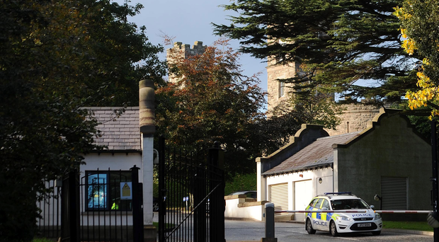A letter bomb addressed to Northern Ireland Secretary of State Theresa Villiers was made safe by the Army at Stormont Castle in Belfast on Tuesday. Pic Colm Lenaghan/Pacemaker