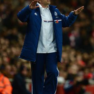 LONDON, ENGLAND - OCTOBER 29: Chelsea manager Jose Mourinho gestures during the Capital One Cup Fourth Round match between Arsenal and Chelsea at the Emirates Stadium on October 29, 2013 in London, England. (Photo by Jamie McDonald/Getty Images)