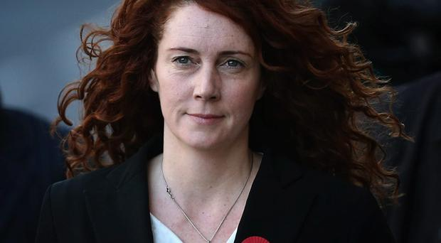 Former News International chief executive Rebekah Brooks arrives at the Old Bailey for the phone-hacking conspiracy trial.