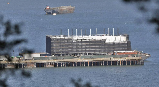 The four-storey mystery barge linked to Google in San Francisco Bay