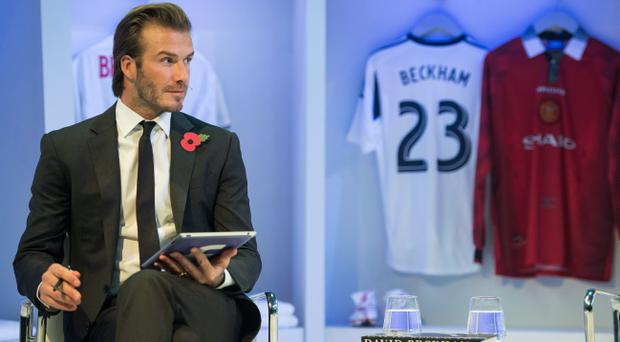 David Beckham pictured on October 30, 2013 in London, England. Beckham was promoting his new photography book entitled 'David Beckham'