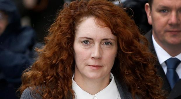 Rebekah Brooks arrives at The Old Bailey law court in London, Thursday, Oct. 31, 2013