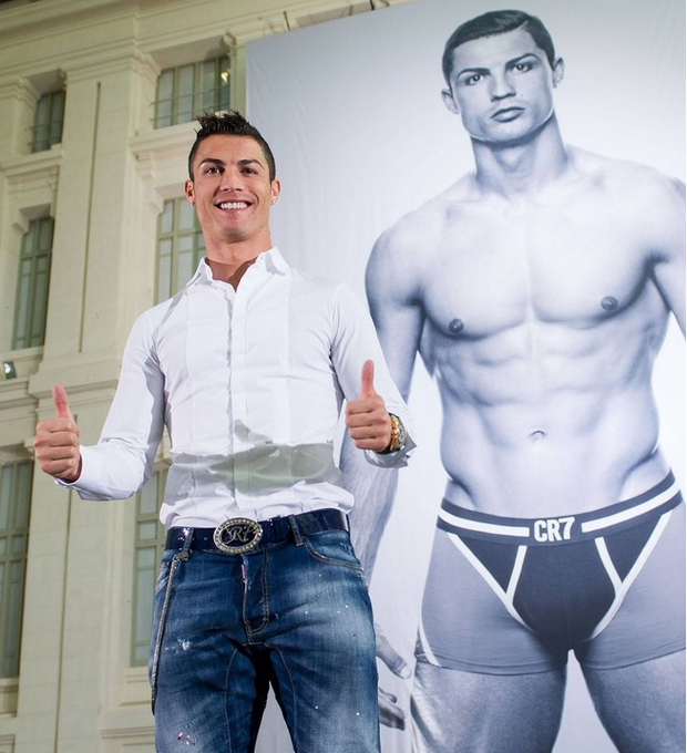 Cristiano Ronaldo says design and fashion are his passions