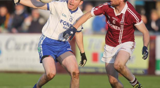 Conleith Gilligan in action for Ballinderry